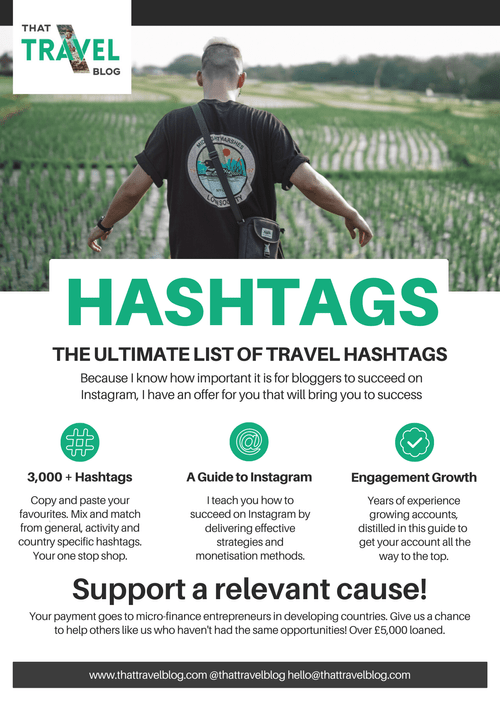 Instagram Hashtags for Travel Bloggers