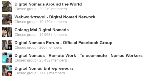 Digital Nomad Facebook Groups