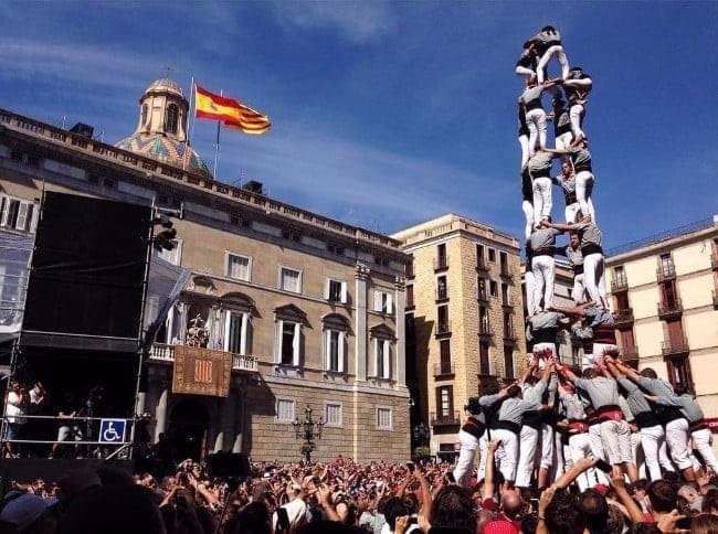 La Mercè Castellers in Barcelona